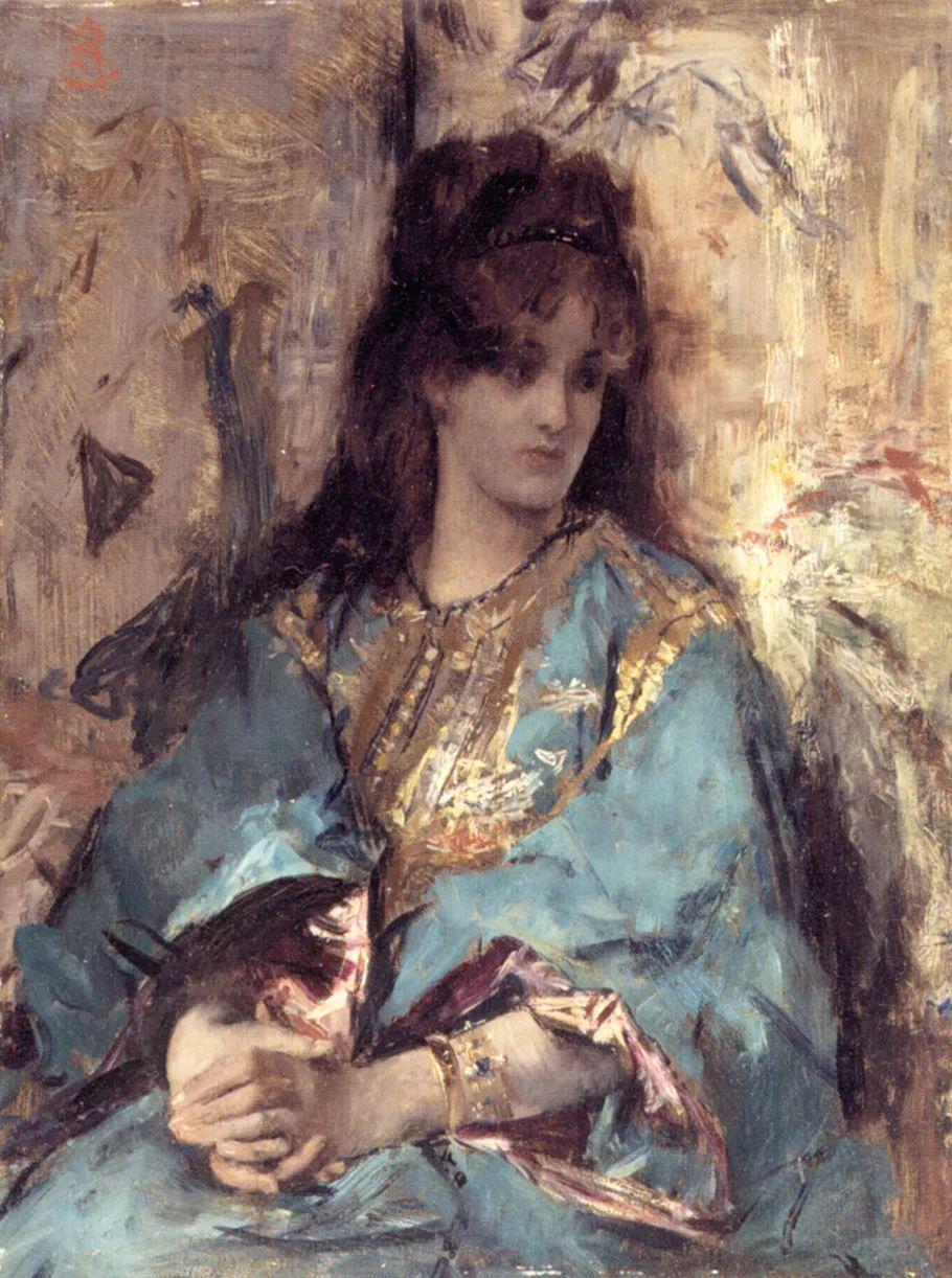 当代女性绘画 比利时画家Alfred Stevens作品插图3