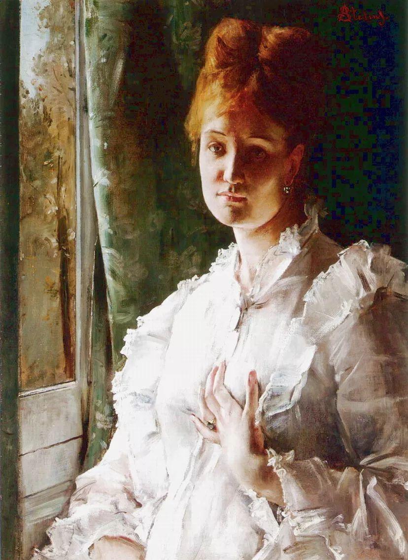 当代女性绘画 比利时画家Alfred Stevens作品插图5