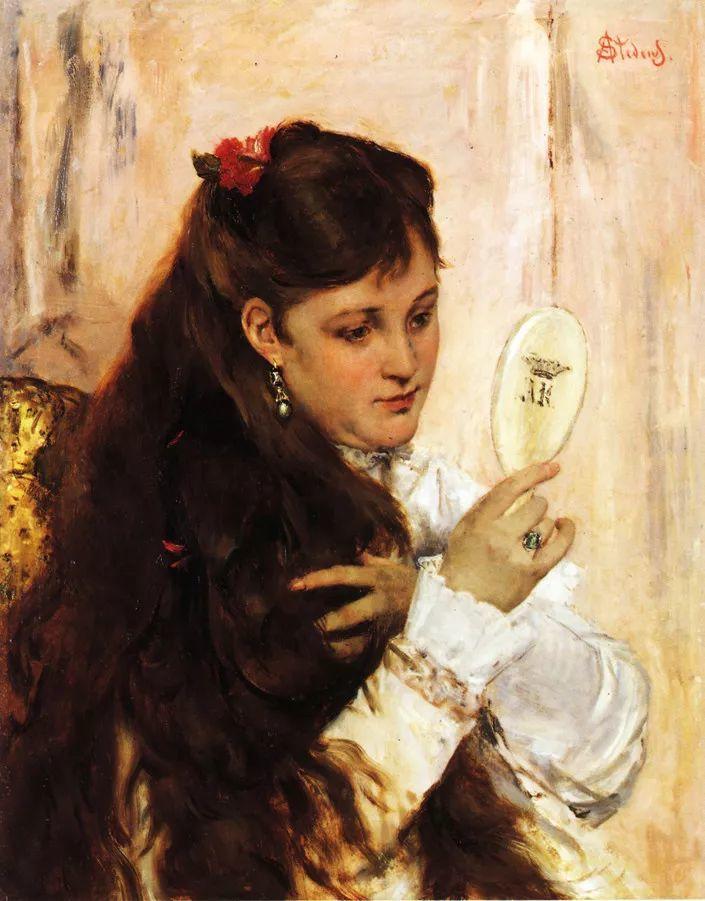 当代女性绘画 比利时画家Alfred Stevens作品插图9