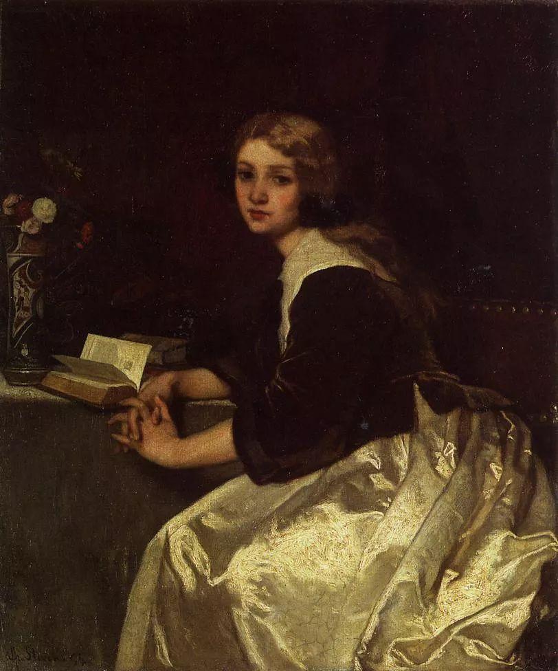 当代女性绘画 比利时画家Alfred Stevens作品插图11
