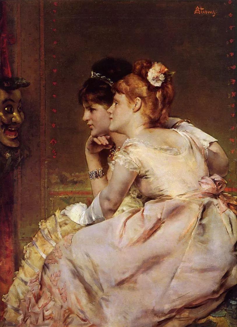当代女性绘画 比利时画家Alfred Stevens作品插图15