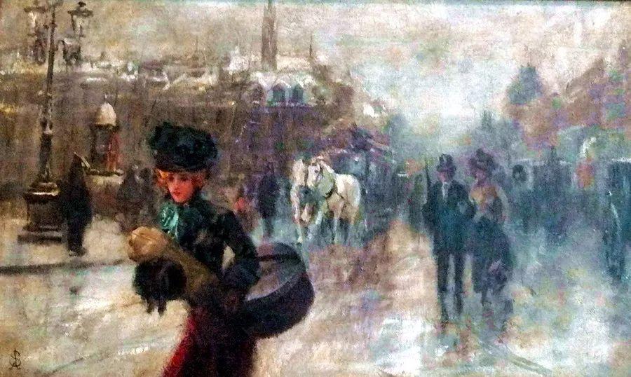 当代女性绘画 比利时画家Alfred Stevens作品插图23