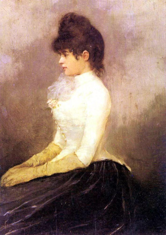 当代女性绘画 比利时画家Alfred Stevens作品插图29