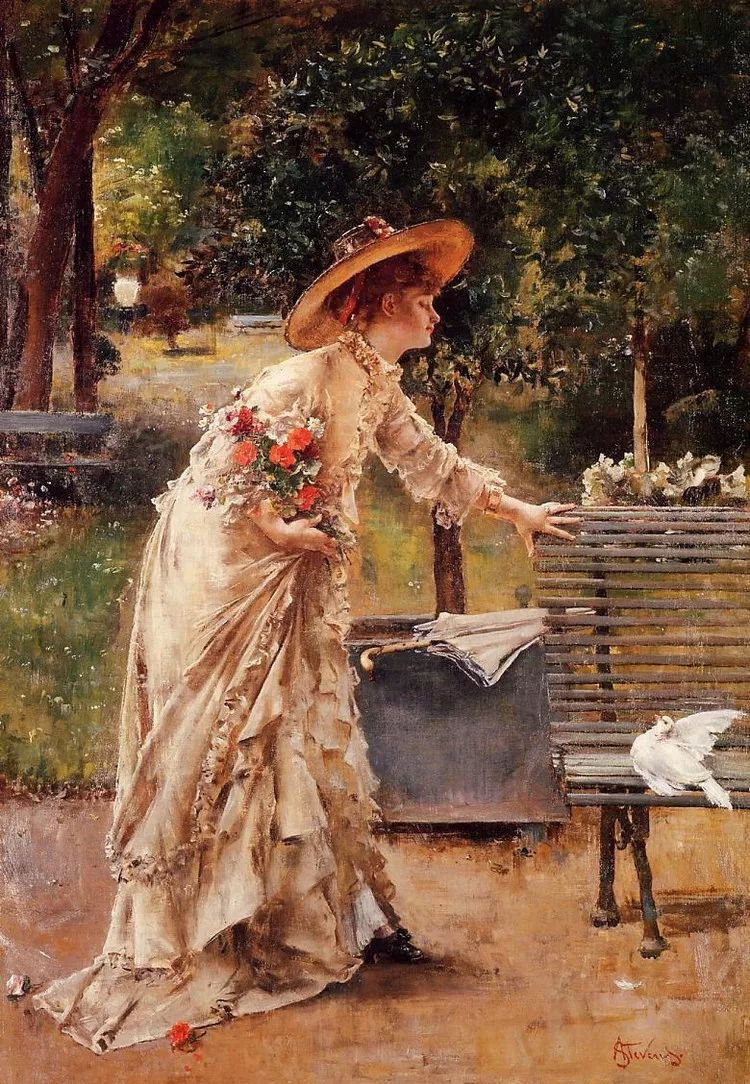 当代女性绘画 比利时画家Alfred Stevens作品插图43