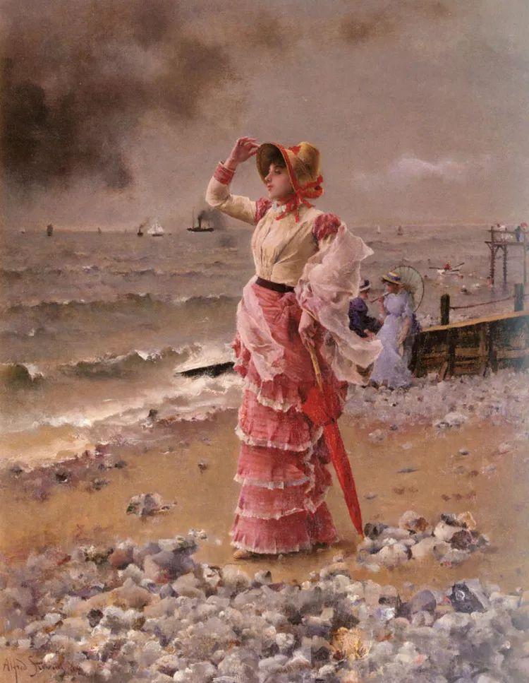 当代女性绘画 比利时画家Alfred Stevens作品插图47