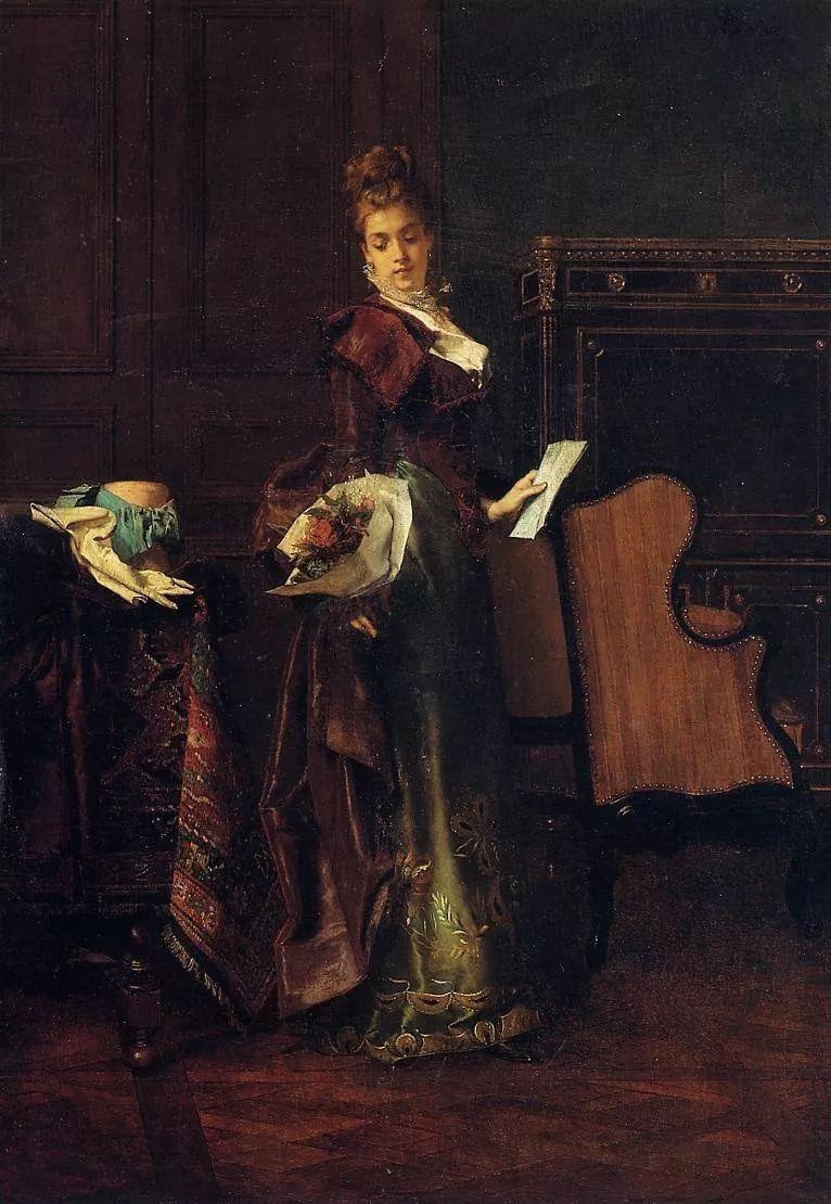 当代女性绘画 比利时画家Alfred Stevens作品插图49