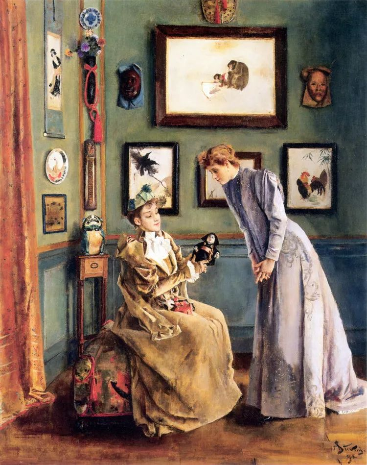 当代女性绘画 比利时画家Alfred Stevens作品插图53