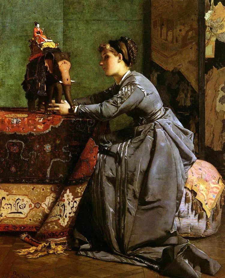 当代女性绘画 比利时画家Alfred Stevens作品插图57