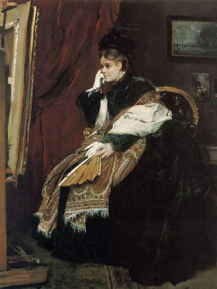 当代女性绘画 比利时画家Alfred Stevens作品插图59