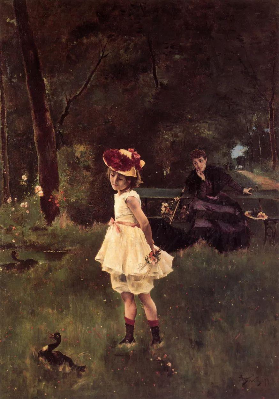 当代女性绘画 比利时画家Alfred Stevens作品插图63