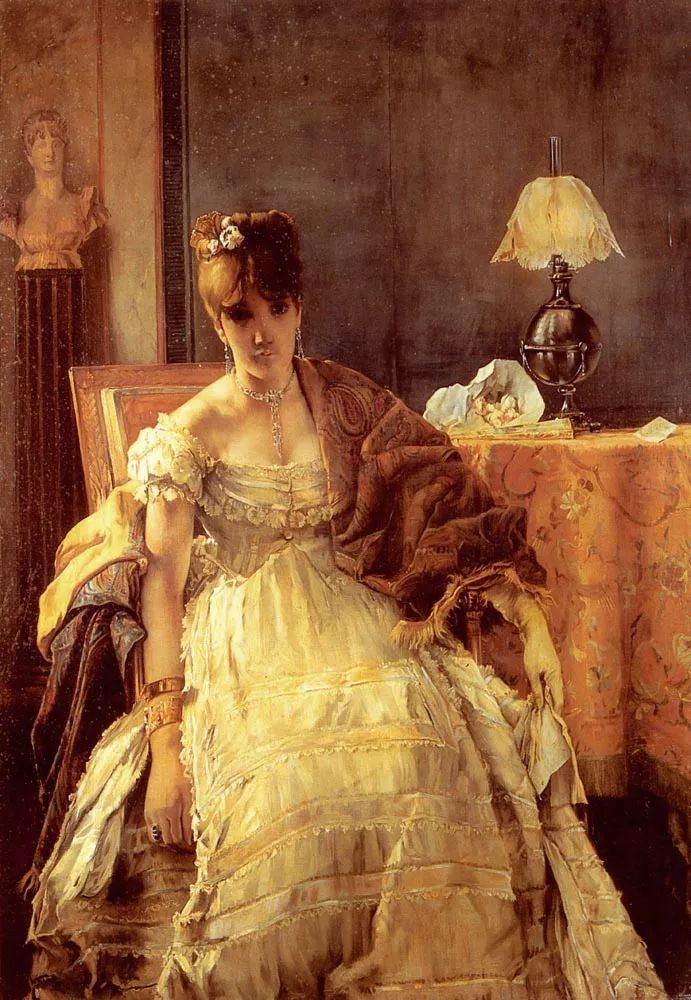当代女性绘画 比利时画家Alfred Stevens作品插图65