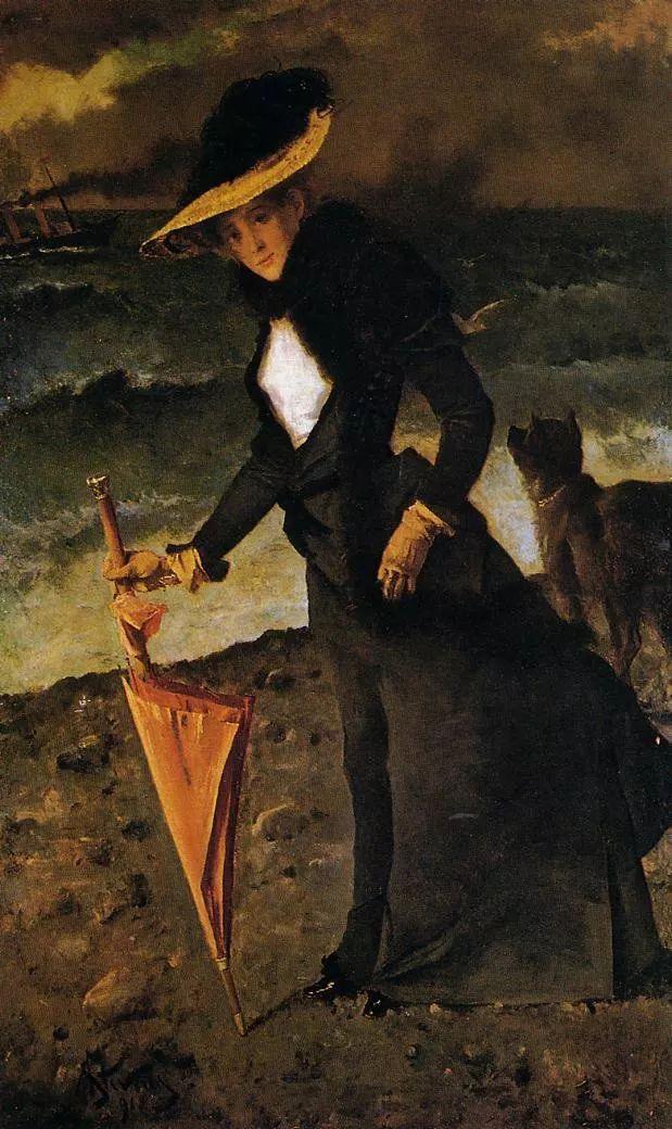 当代女性绘画 比利时画家Alfred Stevens作品插图67