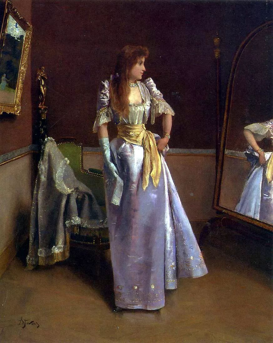 当代女性绘画 比利时画家Alfred Stevens作品插图73