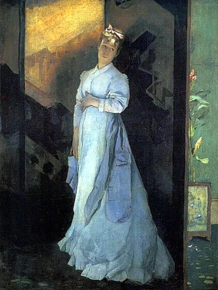 当代女性绘画 比利时画家Alfred Stevens作品插图75
