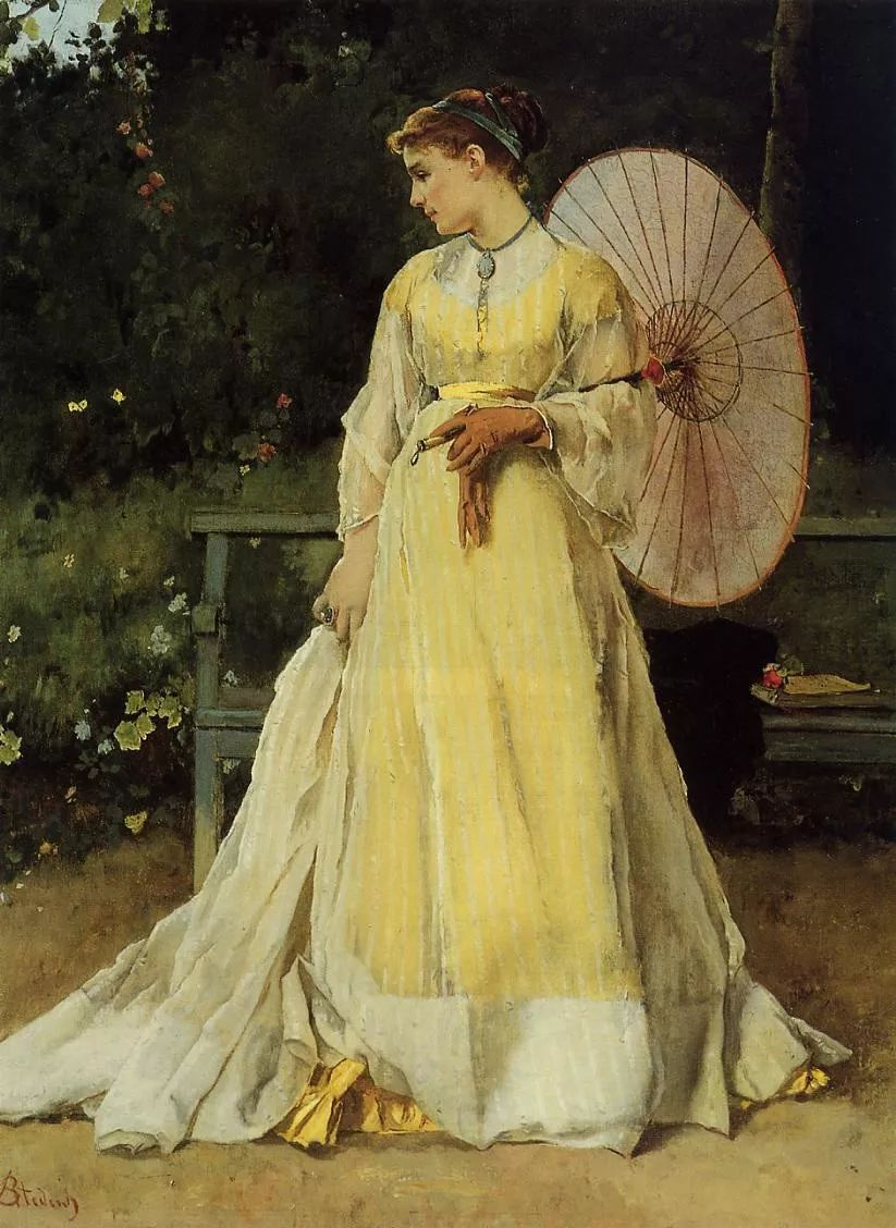 当代女性绘画 比利时画家Alfred Stevens作品插图77