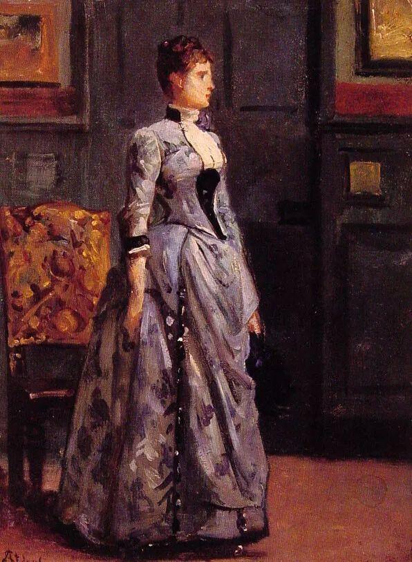 当代女性绘画 比利时画家Alfred Stevens作品插图81
