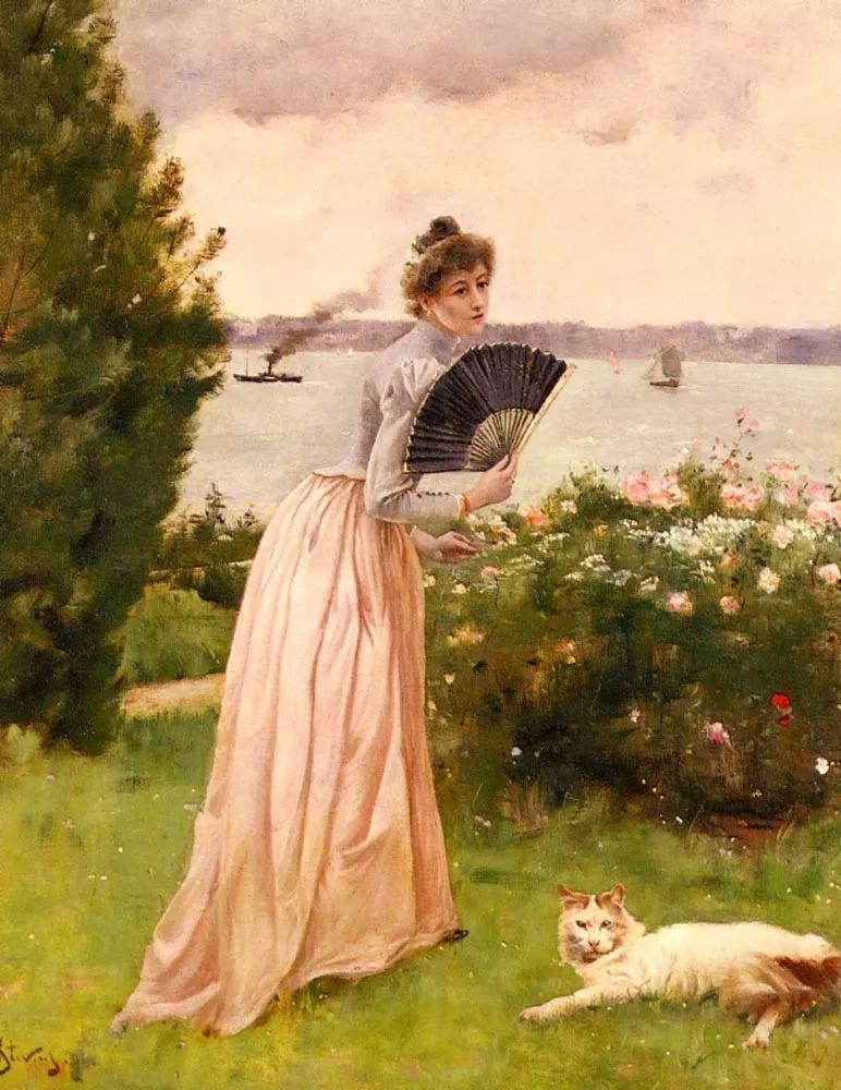 当代女性绘画 比利时画家Alfred Stevens作品插图85