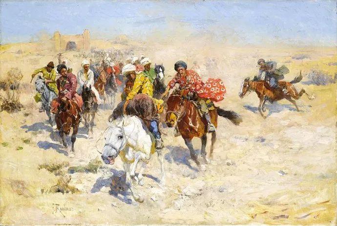 俄罗斯画家Frants Roubaud (1856-1928)插图3