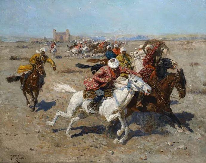 俄罗斯画家Frants Roubaud (1856-1928)插图7