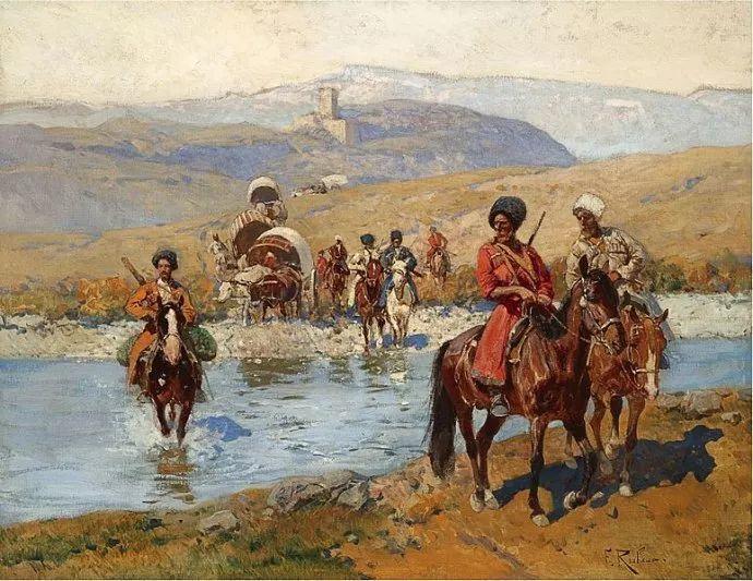 俄罗斯画家Frants Roubaud (1856-1928)插图9