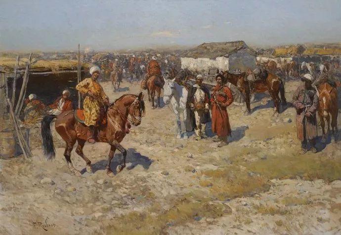 俄罗斯画家Frants Roubaud (1856-1928)插图25