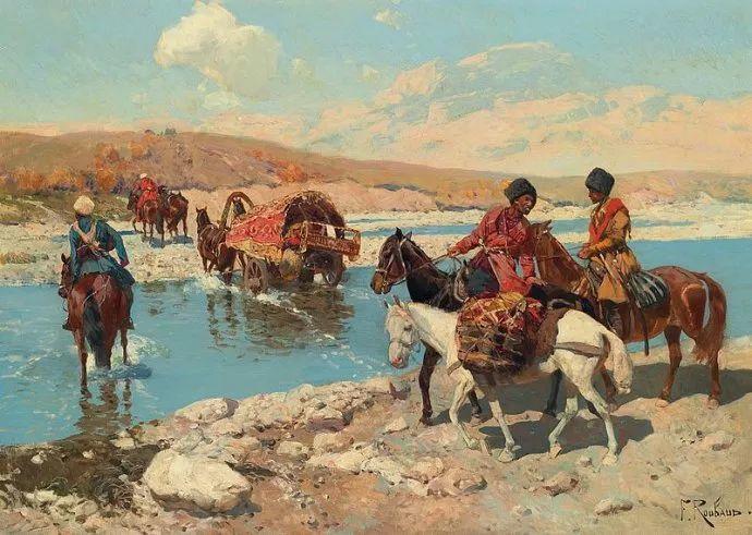 俄罗斯画家Frants Roubaud (1856-1928)插图27