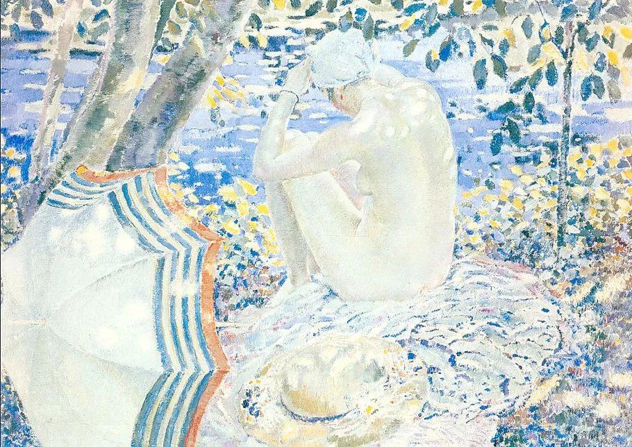 阳光下的女孩 美国画家Frederick Carl Frieseke作品插图11