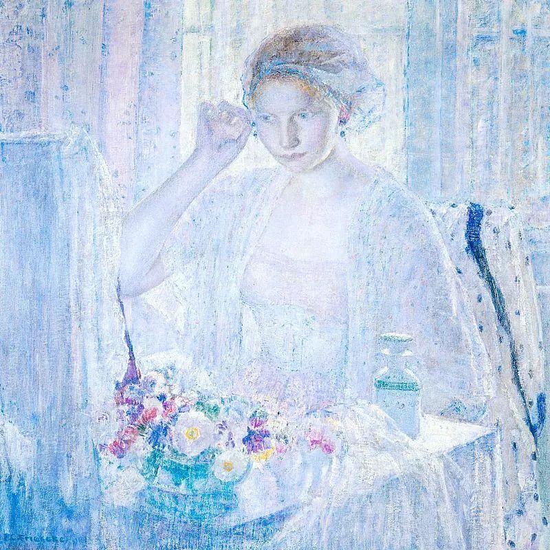 阳光下的女孩 美国画家Frederick Carl Frieseke作品插图21