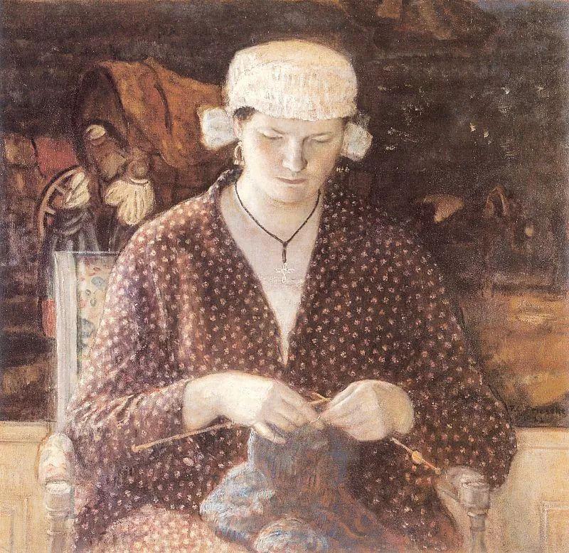 阳光下的女孩 美国画家Frederick Carl Frieseke作品插图33