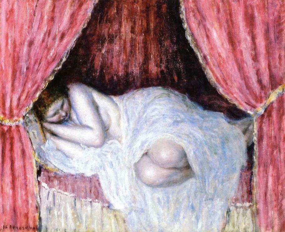 阳光下的女孩 美国画家Frederick Carl Frieseke作品插图35