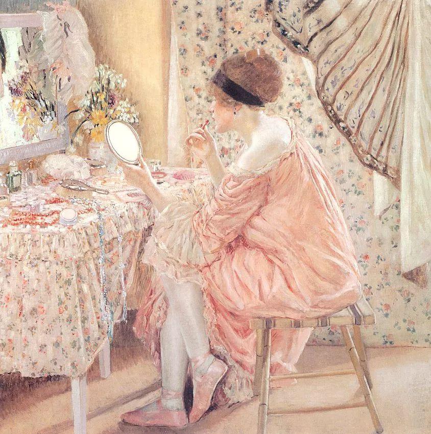 阳光下的女孩 美国画家Frederick Carl Frieseke作品插图41