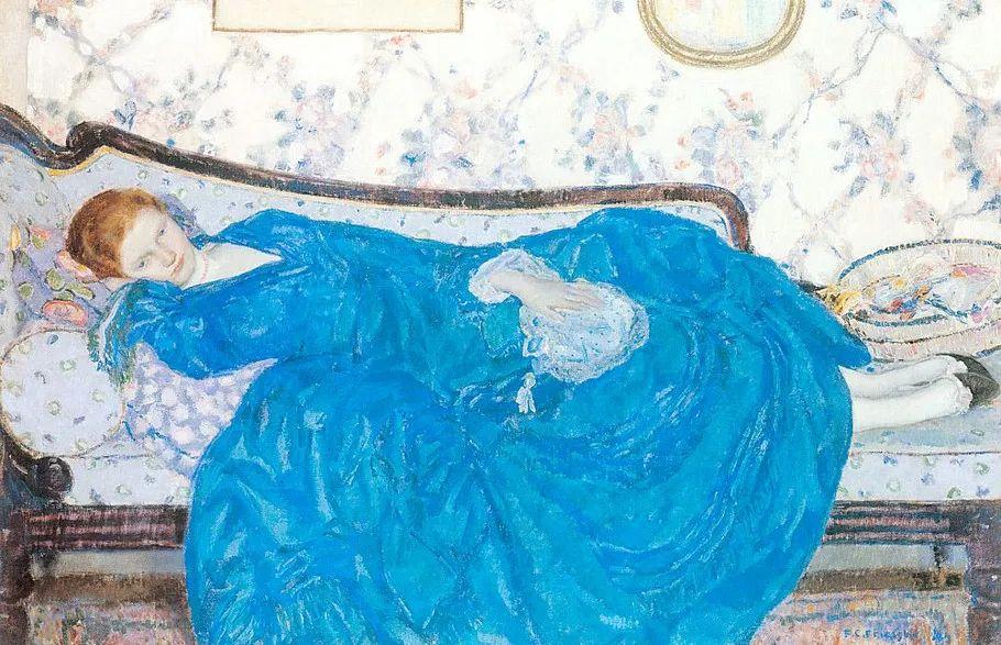 阳光下的女孩 美国画家Frederick Carl Frieseke作品插图43