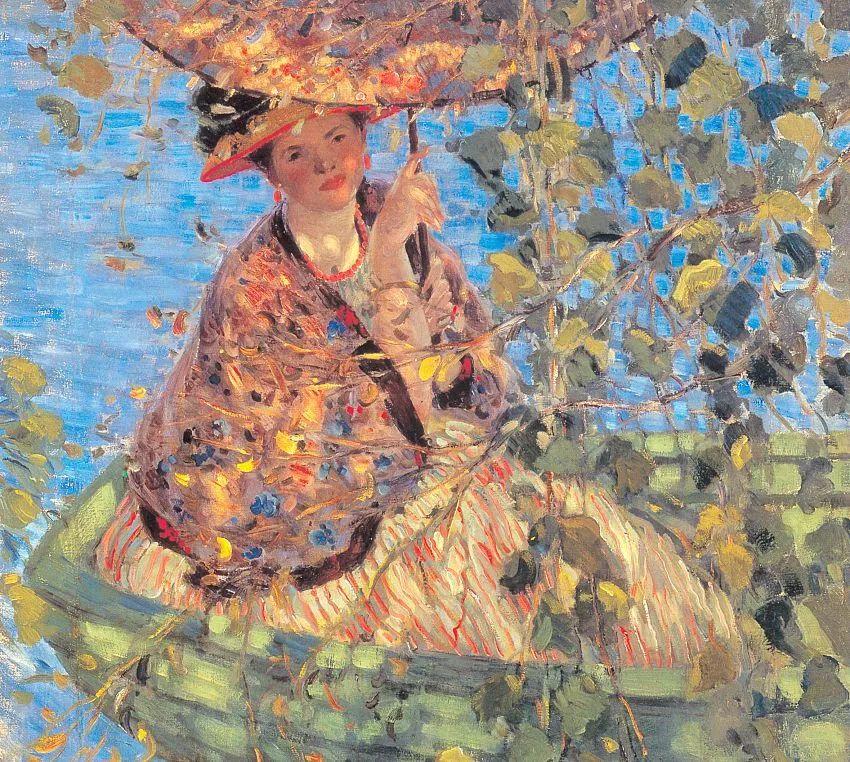 阳光下的女孩 美国画家Frederick Carl Frieseke作品插图47