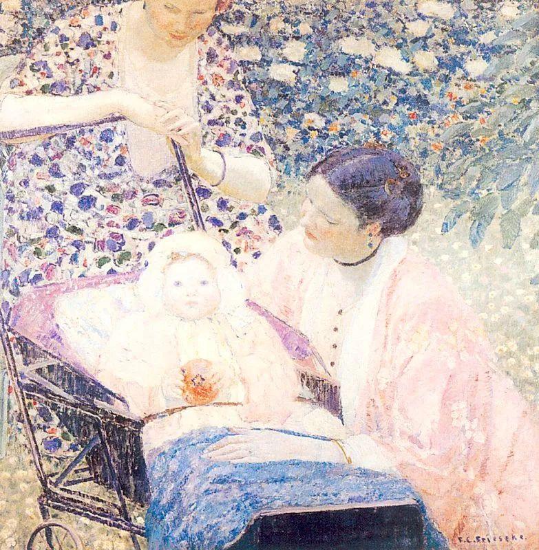 阳光下的女孩 美国画家Frederick Carl Frieseke作品插图53
