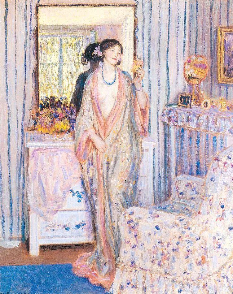 阳光下的女孩 美国画家Frederick Carl Frieseke作品插图55