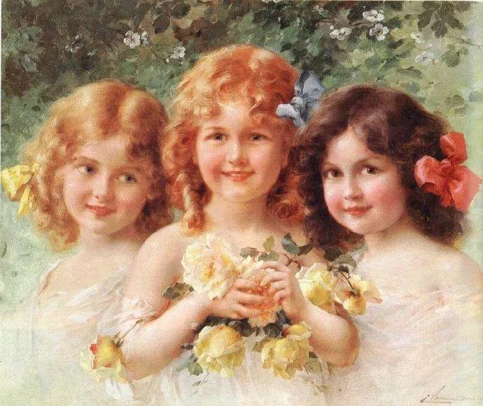 擅长女性绘画  法国画家Emile Vernon(1872–1919)插图1