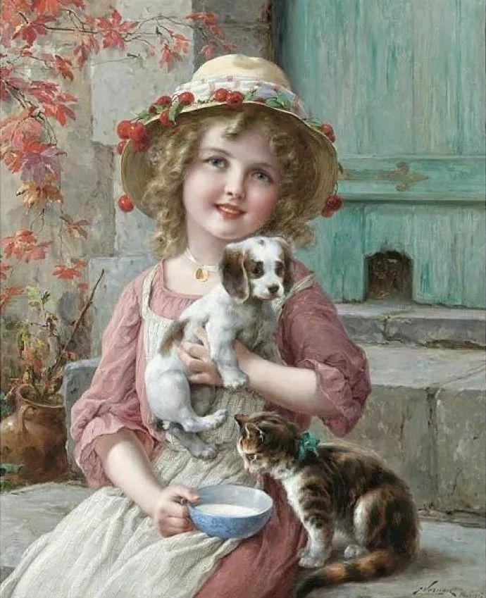 擅长女性绘画  法国画家Emile Vernon(1872–1919)插图7