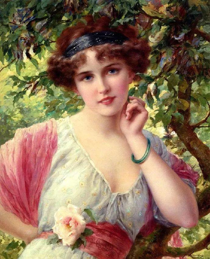 擅长女性绘画  法国画家Emile Vernon(1872–1919)插图23