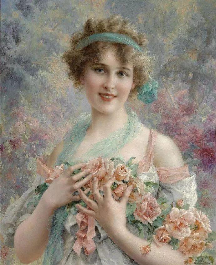 擅长女性绘画  法国画家Emile Vernon(1872–1919)插图27