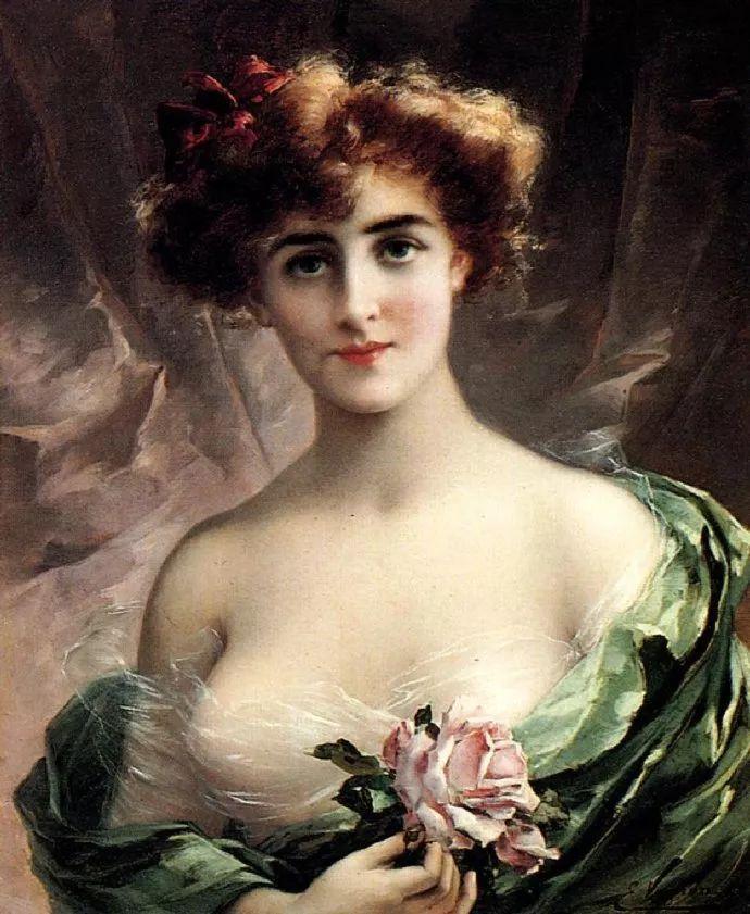 擅长女性绘画  法国画家Emile Vernon(1872–1919)插图37
