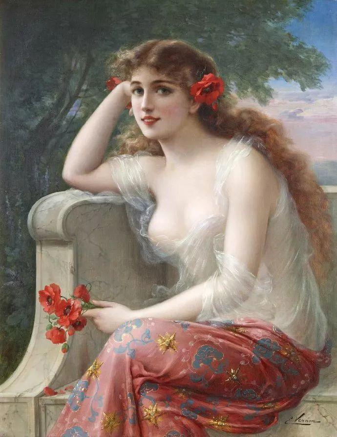 擅长女性绘画  法国画家Emile Vernon(1872–1919)插图41
