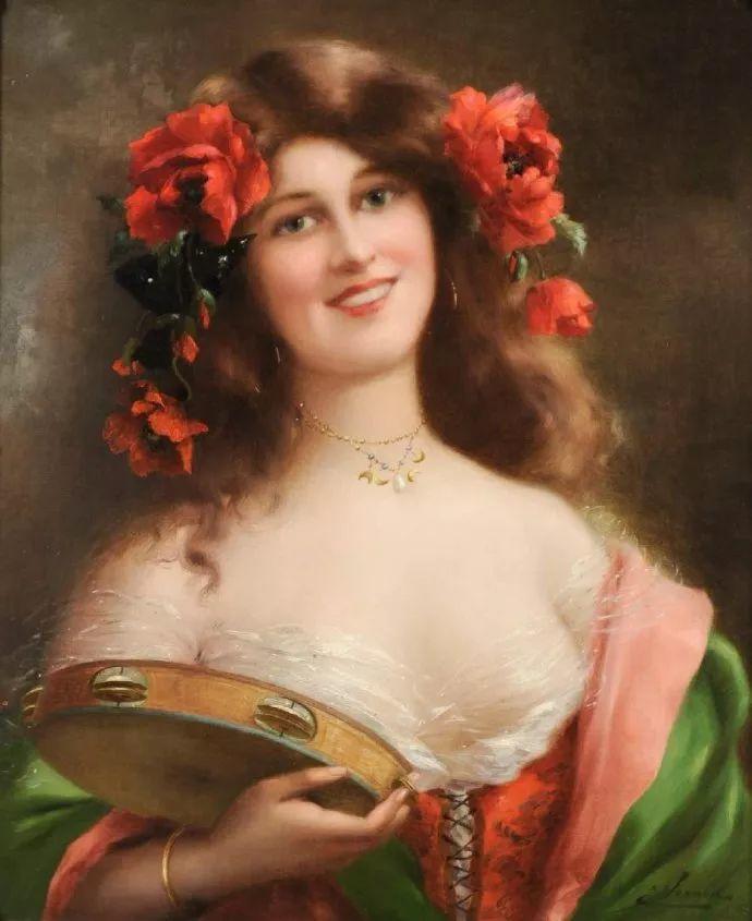 擅长女性绘画  法国画家Emile Vernon(1872–1919)插图45