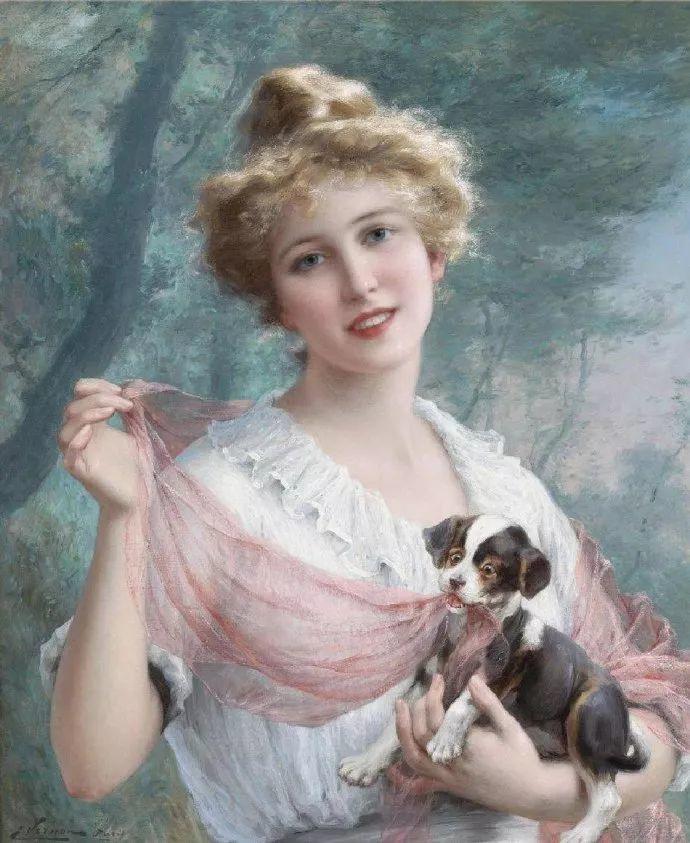 擅长女性绘画  法国画家Emile Vernon(1872–1919)插图49