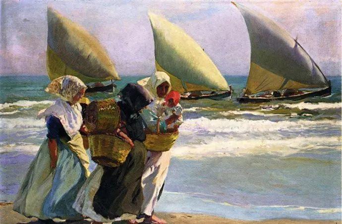 印象派 西班牙画家Joaquín Sorolla y Bastida插图47