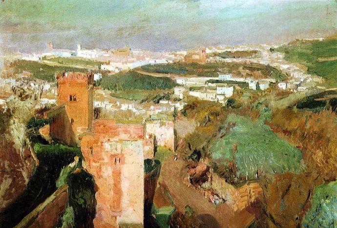 印象派 西班牙画家Joaquín Sorolla y Bastida插图61