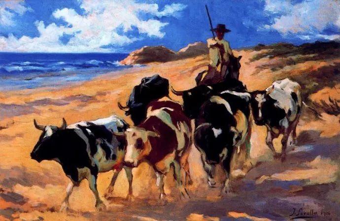 印象派 西班牙画家Joaquín Sorolla y Bastida插图79