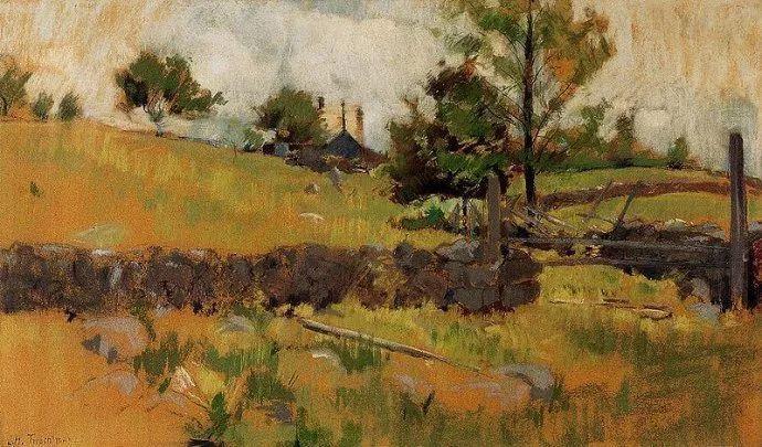 美国印象派风景画家John Henry Twachtman插图13