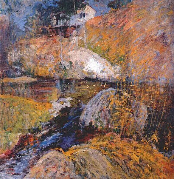 美国印象派风景画家John Henry Twachtman插图35
