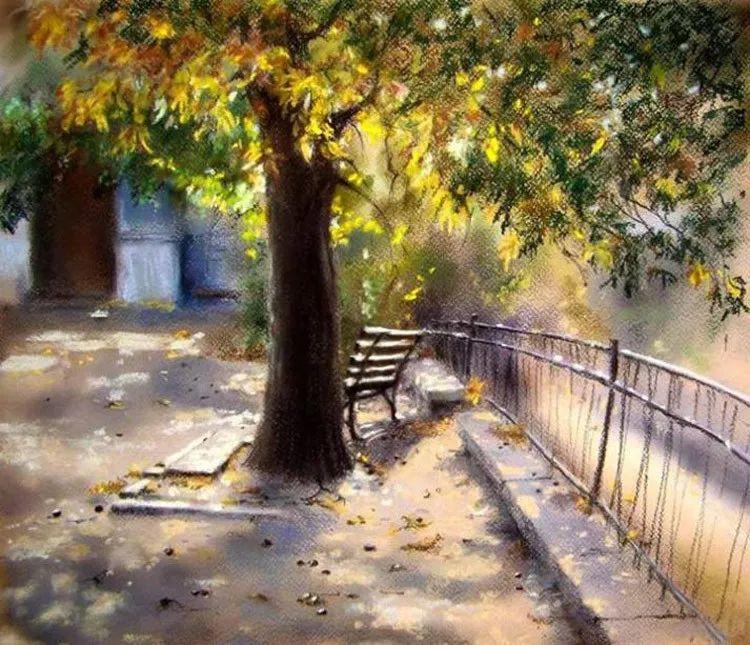 风景油画欣赏 俄罗斯女画家Elena Yushina作品插图3