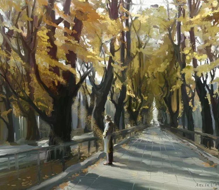 风景油画欣赏 俄罗斯女画家Elena Yushina作品插图15